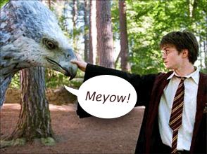 Buckbeak saying Meyow!