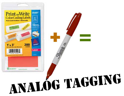 markers plus labels equals Analog Tagging!